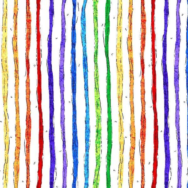 Woof 'N' Whiskers - Rainbow Stripe - White