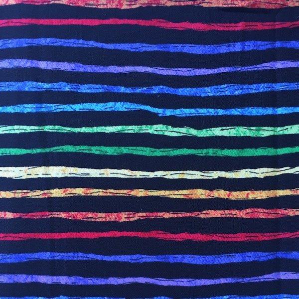 Woof 'N' Whiskers - Rainbow Stripe - Black