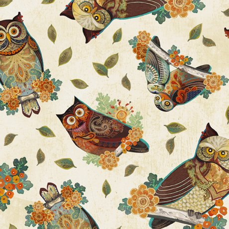 COMING SOON - Owl Arabesque - Tossed Owls
