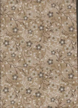 Quilters Basic - Floral - Taupe