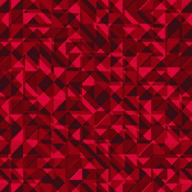Prisms Dark Red 108 inch wide