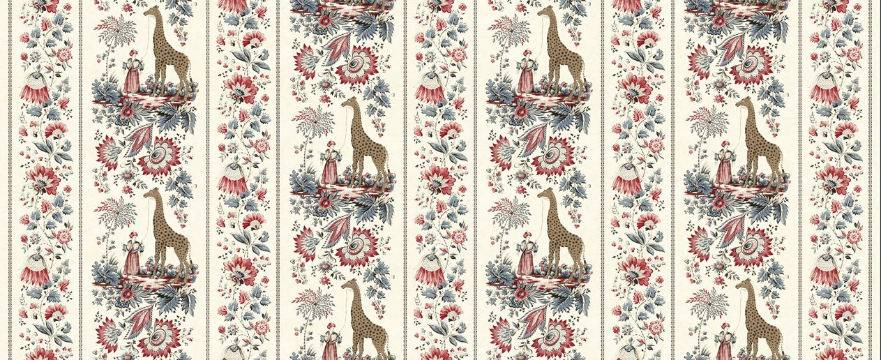 Regency Zarafa - Indian White - Giraffe Print