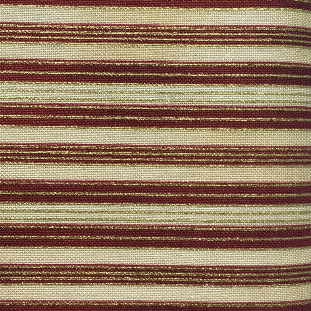 Christmas Greetings - Red & Gold Stripe