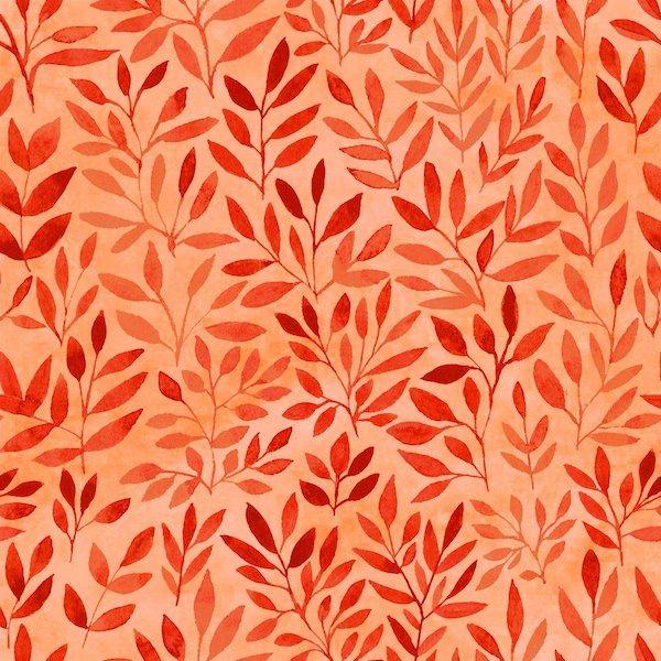 Floral Menagerie - Leaves - Orange