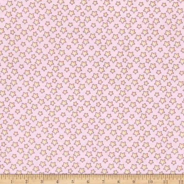 Lullaby Sheep Flannels - Pink Star