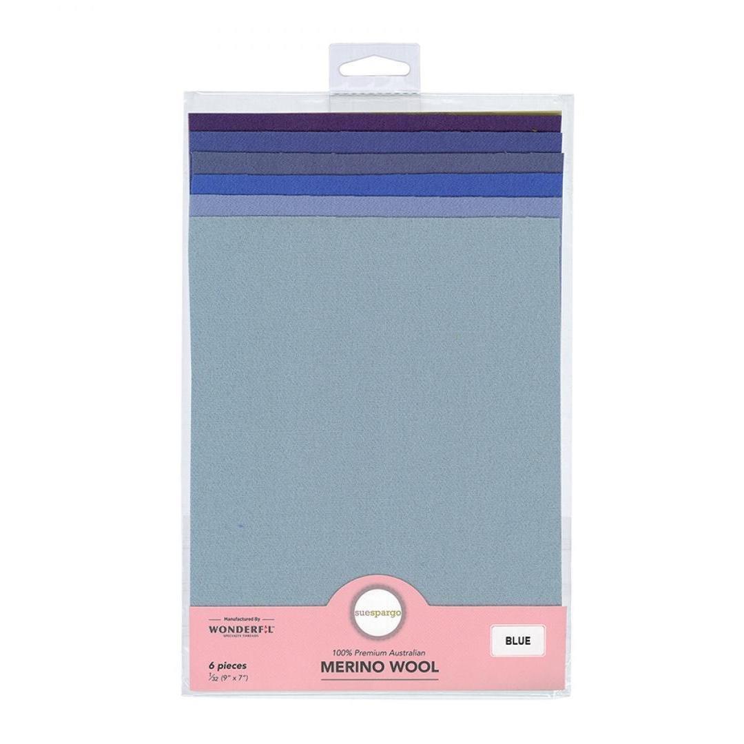 Sue Spargo Merino Wool - BLUE - 6 Pack