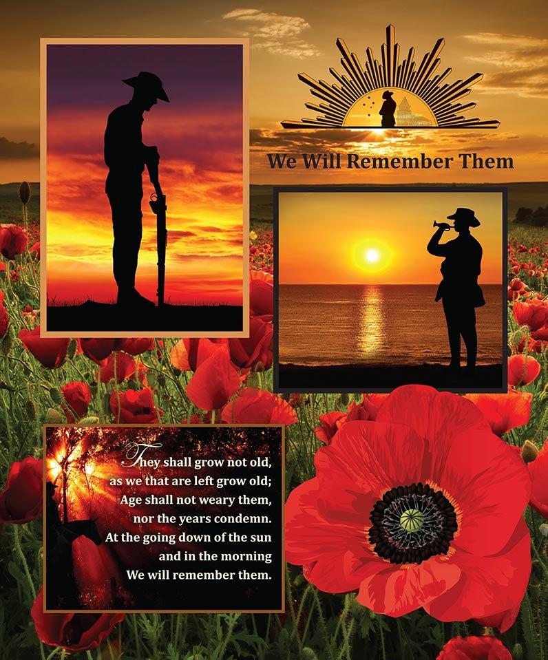 Remembering - ANZAC Panel - Version 2