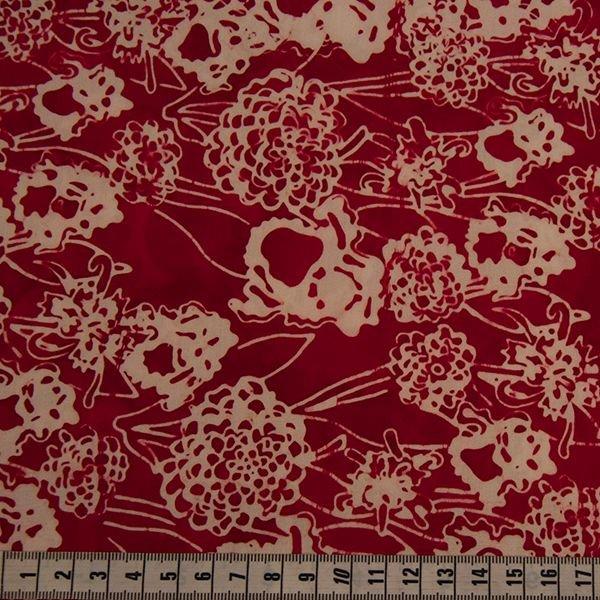 Anthology Batik - Red & White Floral Print