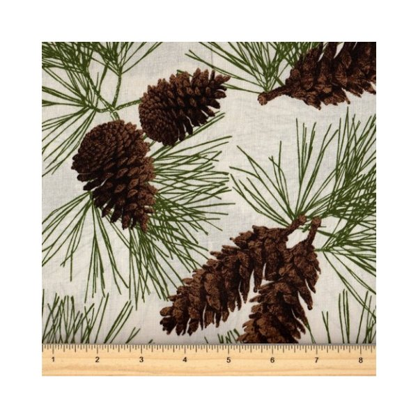 Rustic Refined - Pinecones - Natural