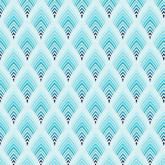 Hummingbird Lane-Feathers -Blue