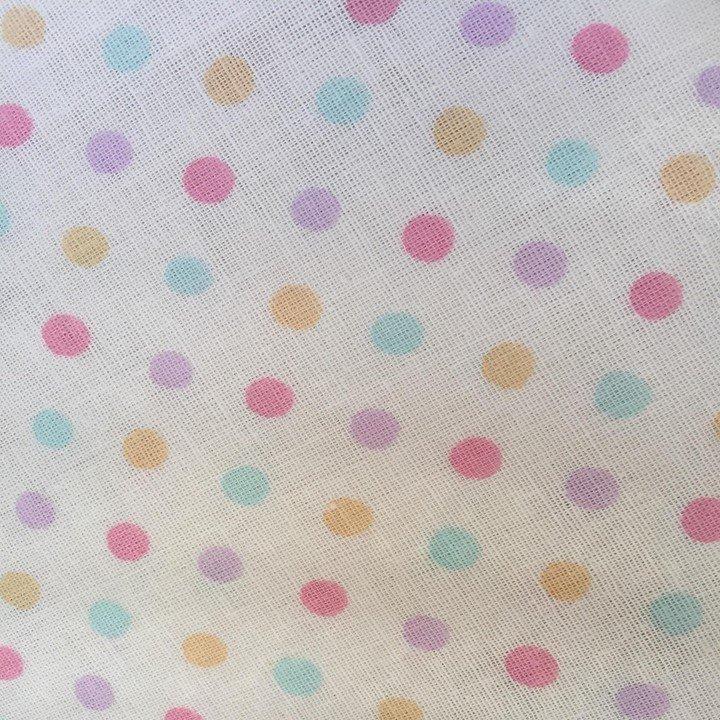 Multi Colour Dot - Pastel Gauze