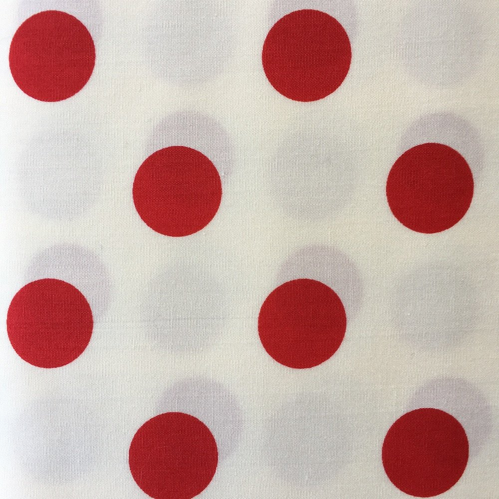 Extra Large Dot Red on White