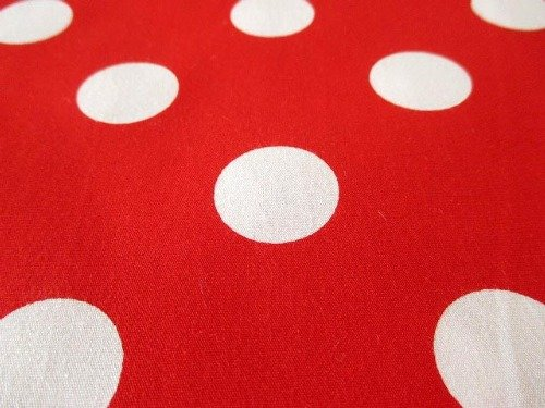 Extra Large Dot White on Red