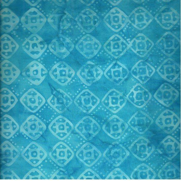 Anthology Batik - Sea Blue Square Print