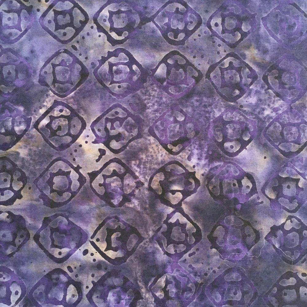 Anthology Batik - Dark Purple Print