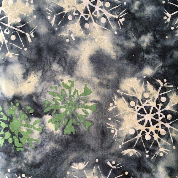 Anthology Batik - Green Snowflake