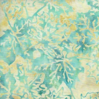 Anthology Batik - Light Green Leaves Print
