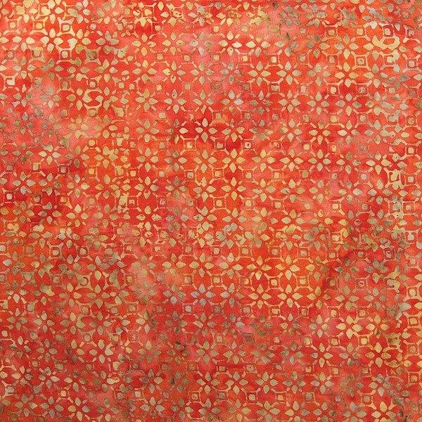 Anthology Batik - Orange & Gold Print