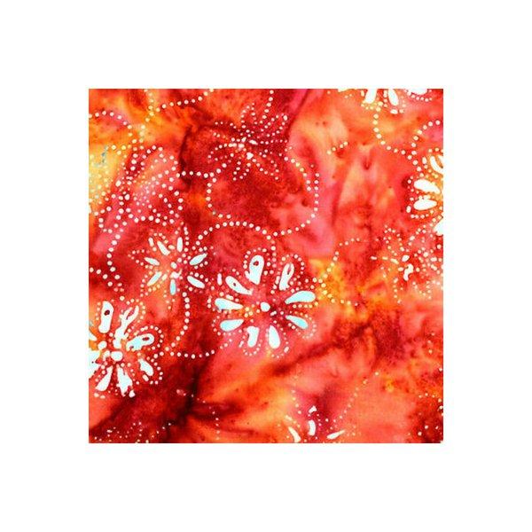Anthology Batik - Russet Orange Print
