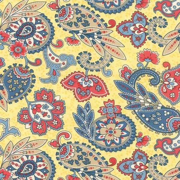 Anns Arbor - Floral Paisley - Buttercup