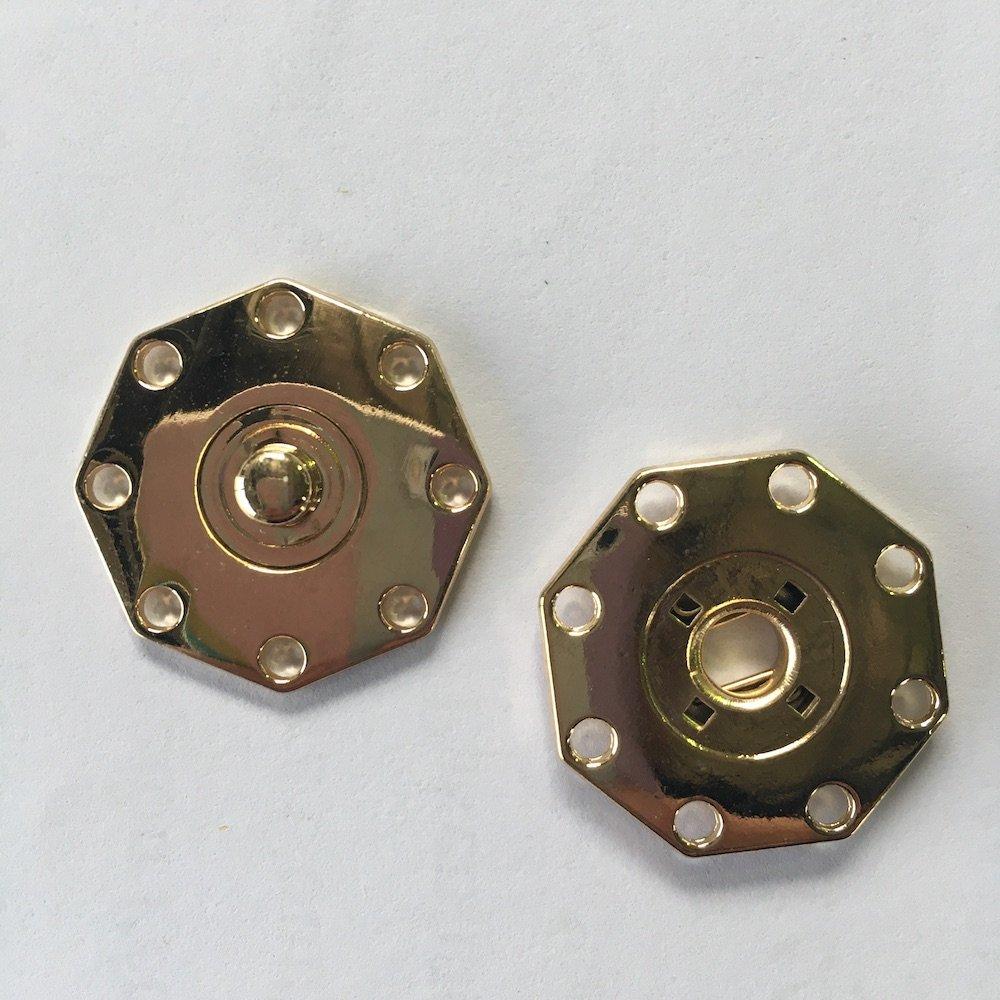 Octagonal Gold Snap - 25mm