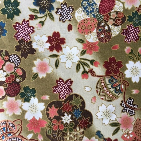 Ab Fab Oriental - Blossoms - Khaki