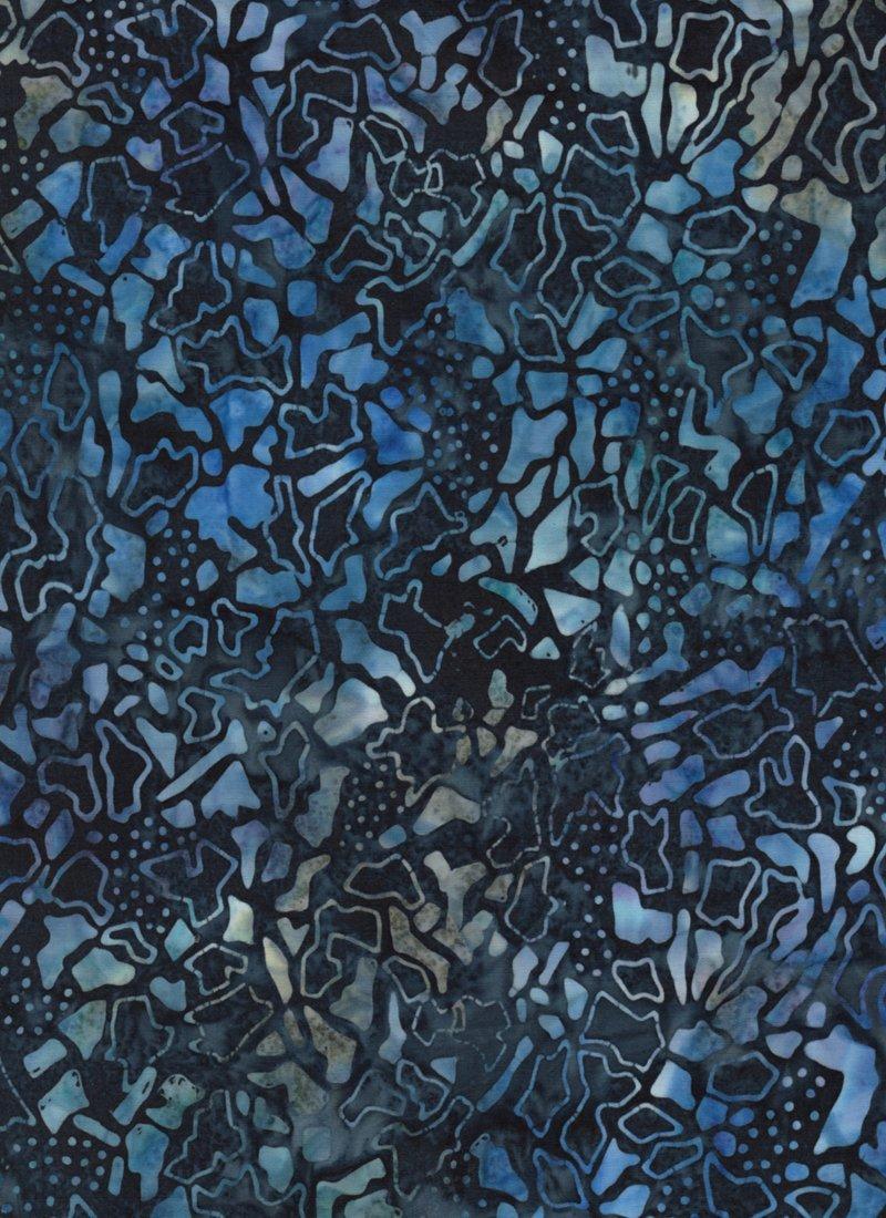 Anthology Batiks - Deep Blue Abstract