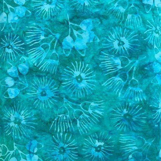 Batik - Australian Natives Aqua - 108 Wide