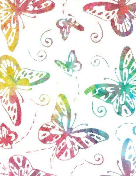 Batik - Deluxe Quiltback - 108 - Butterflies