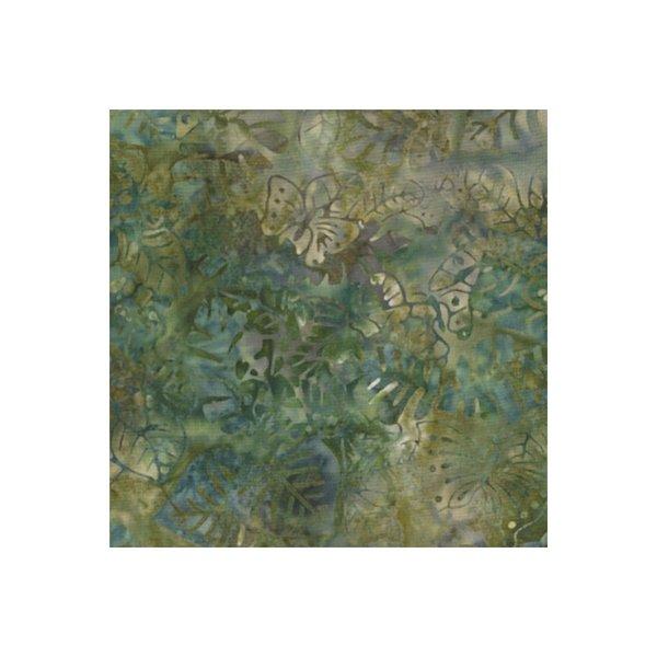 Batik - Green Leaf 108 Wide