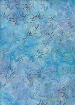 BeColourful Batik - Blue Starburst