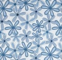 Blue Flowers - Basically Wide - 108 inch wide
