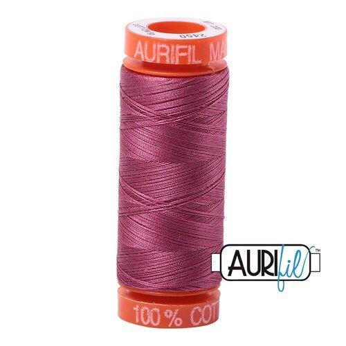 Aurifil Cotton Mako' 50 - 2568 - Mulberry - 200m