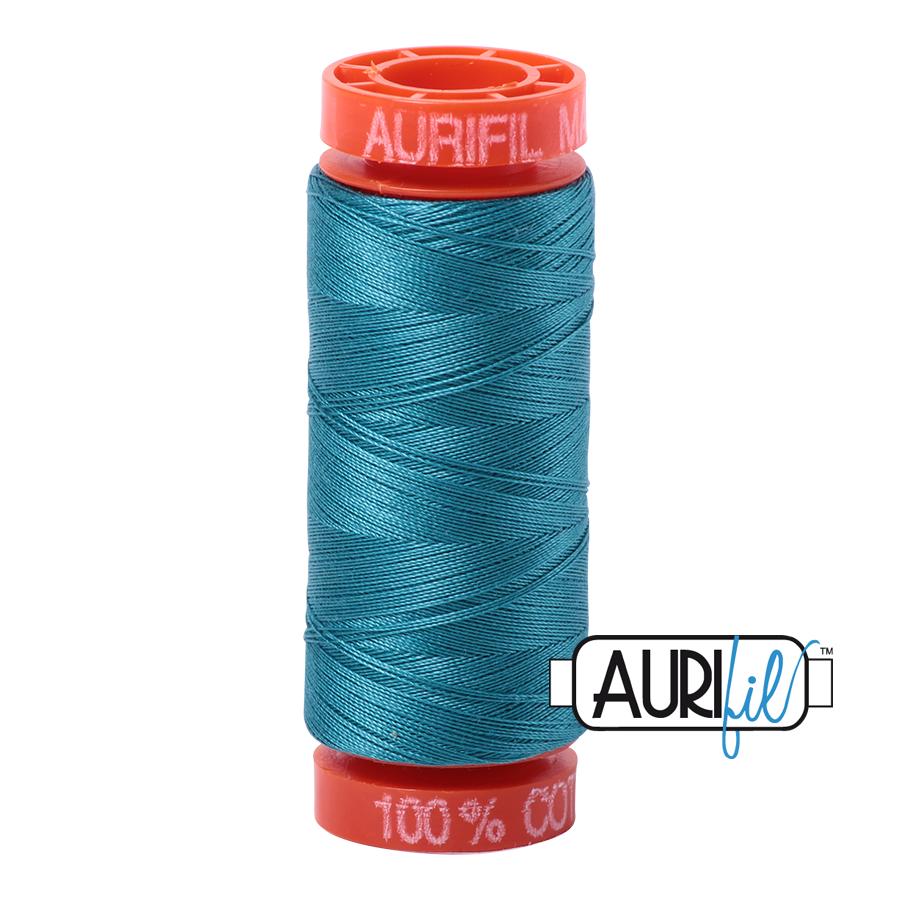 Aurifil Cotton Mako' 50 - 4182 - Dk Turquoise 200m