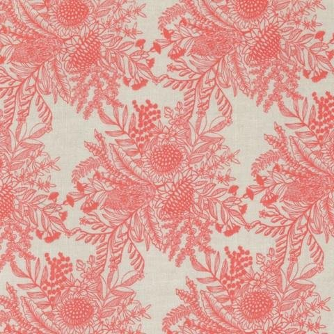 Ella's Backings - Botanical Print - Coral