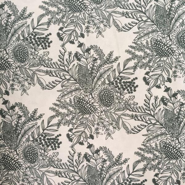 Ella's Backings - Botanical Print - Silver