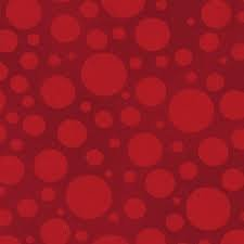 Bubbles Red - Pre-Cut 1.1m - 108