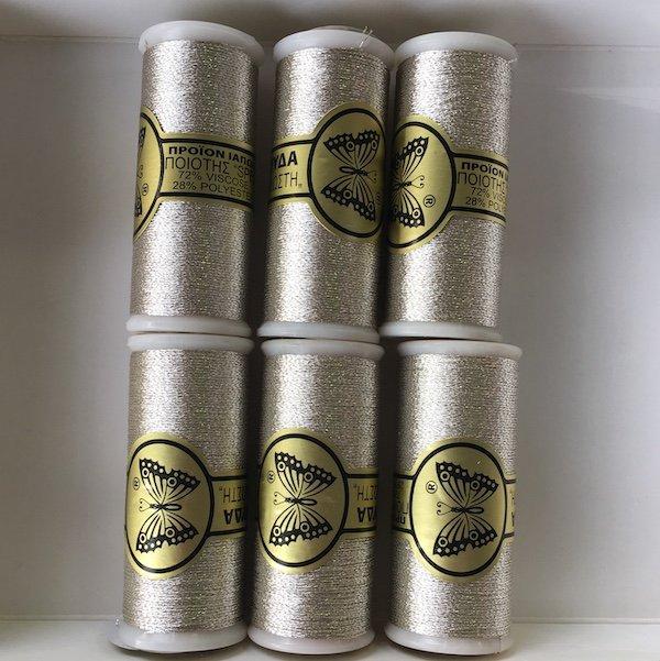 Butterfly Metallic Thread - Light Silver