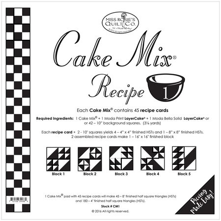 Cake Mix Recipe ONE