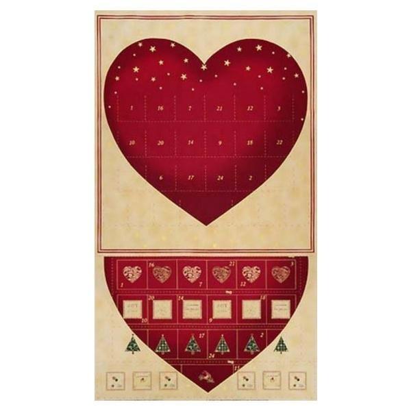 Christmas Heart Advent Panel