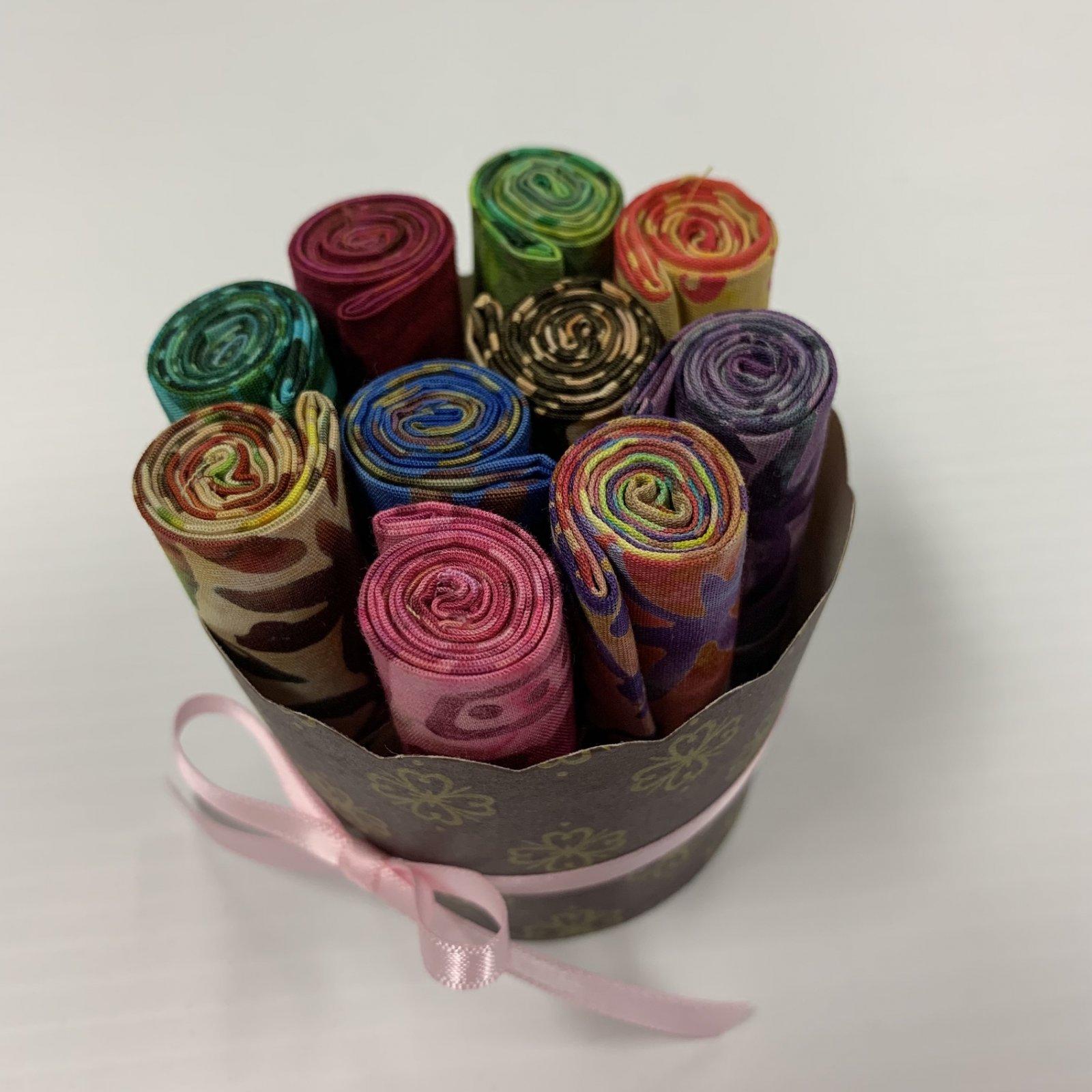 Cupcake Batik Various Colours 10 Squares Bundle