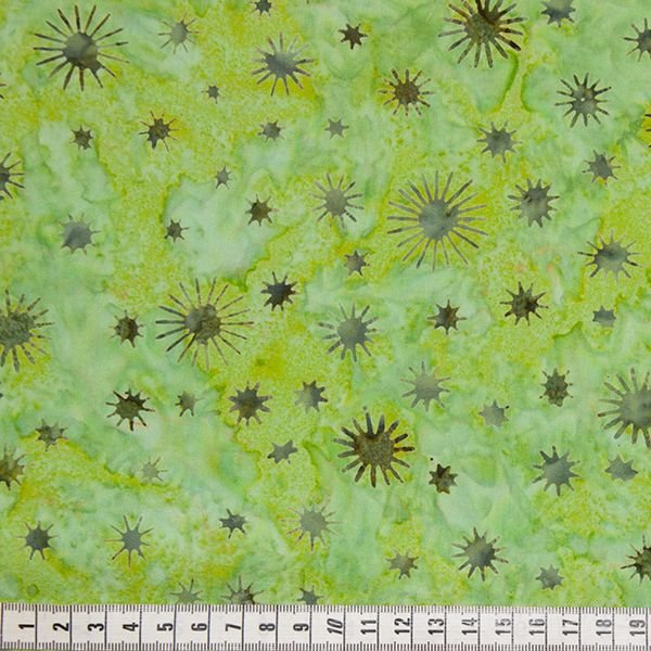 Batik Bright Green Starburst