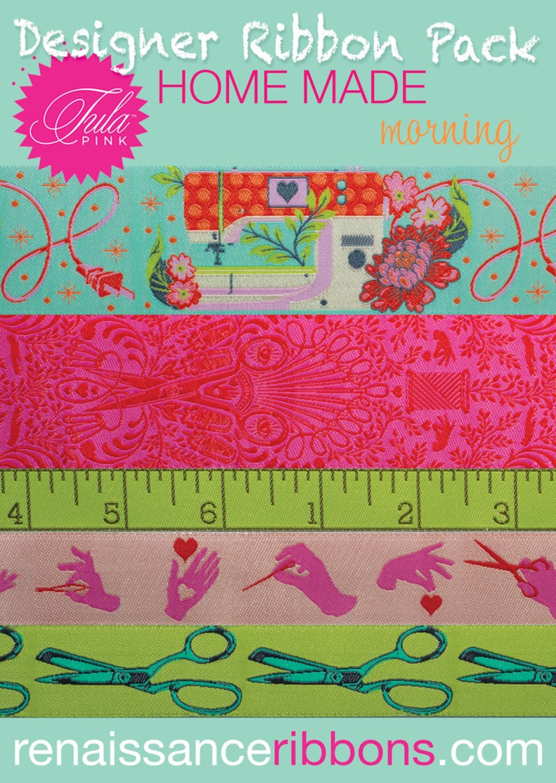Tula Pink Designer Ribbon Pack - Homemade - Morning