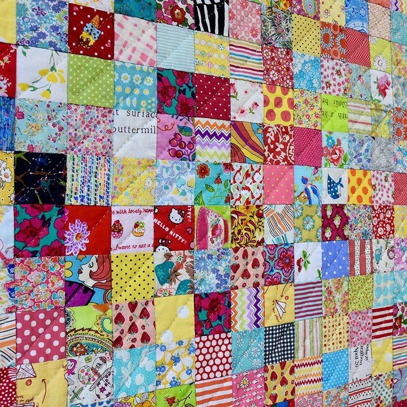 Postcard Project #3 Scrappy Squares