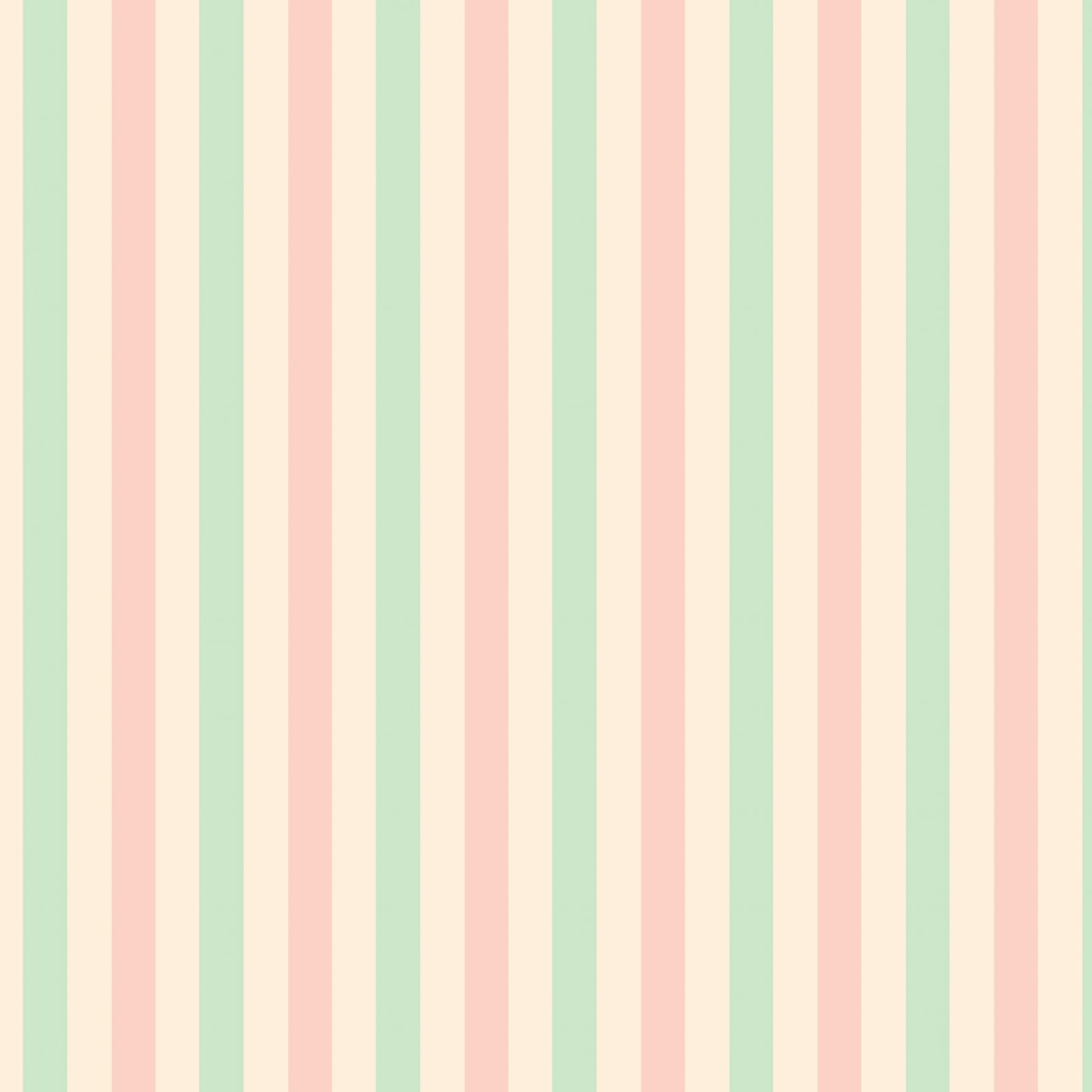 Little Wren Cottage Coordinate -  Mint, Pink and Cream Stripes