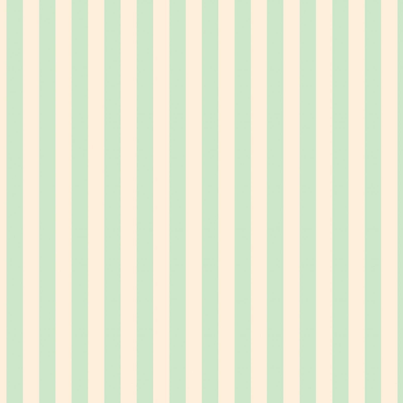 Little Wren Cottage Coordinate - Mint Stripes