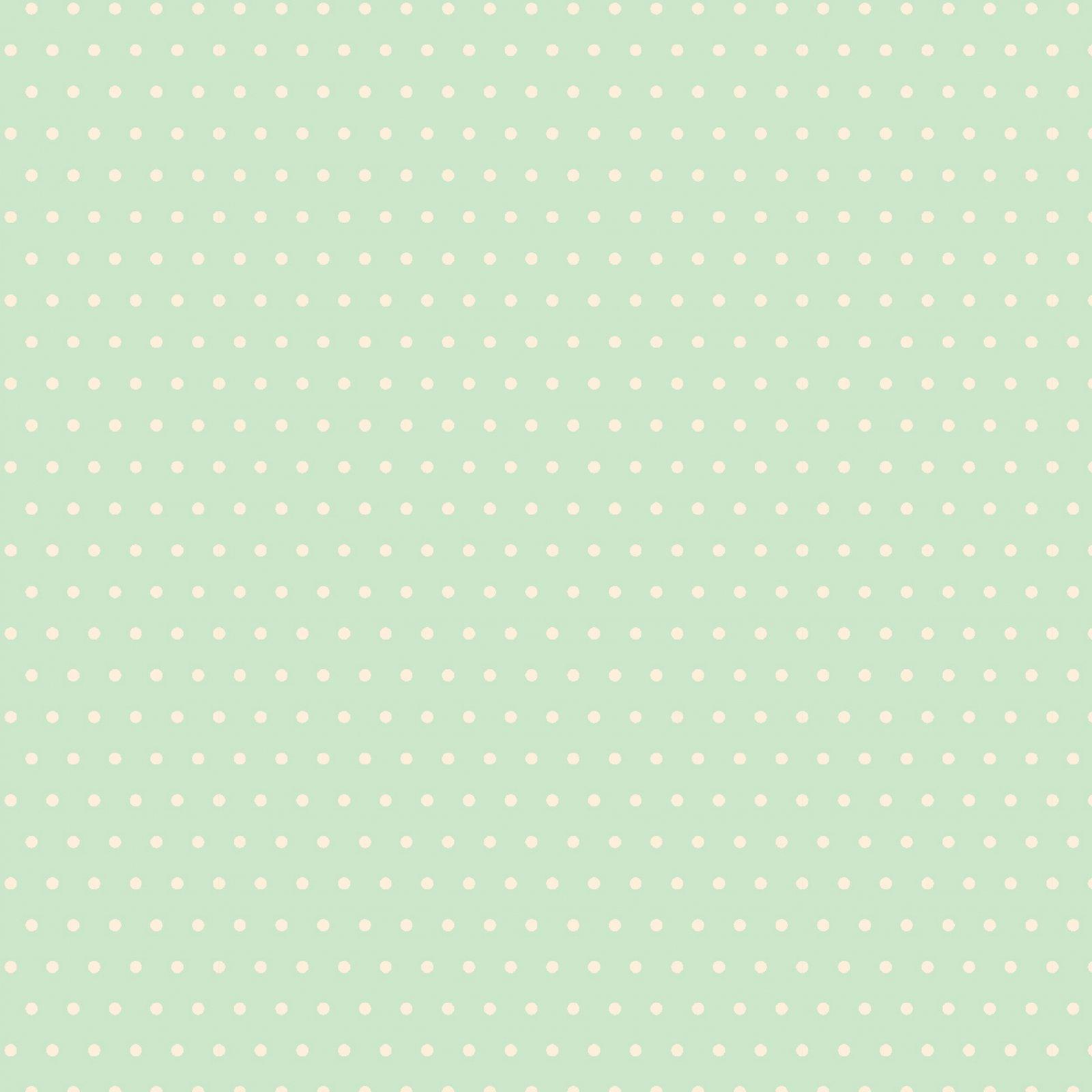 Little Wren Cottage Coordinate - Mint Dots