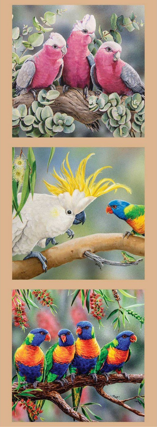 Wildlife Art - Birds No 2 Panel
