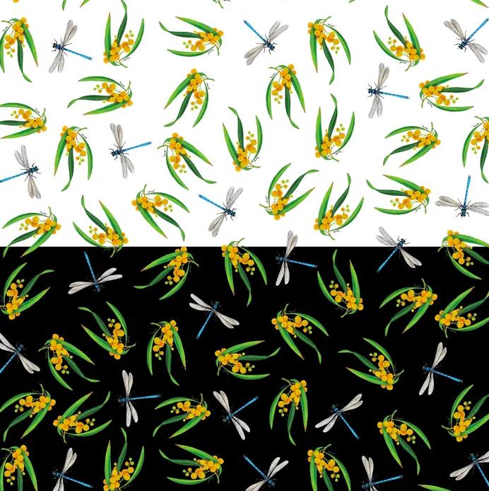 Wildlife Art Basics - Dragonflies & Wattle
