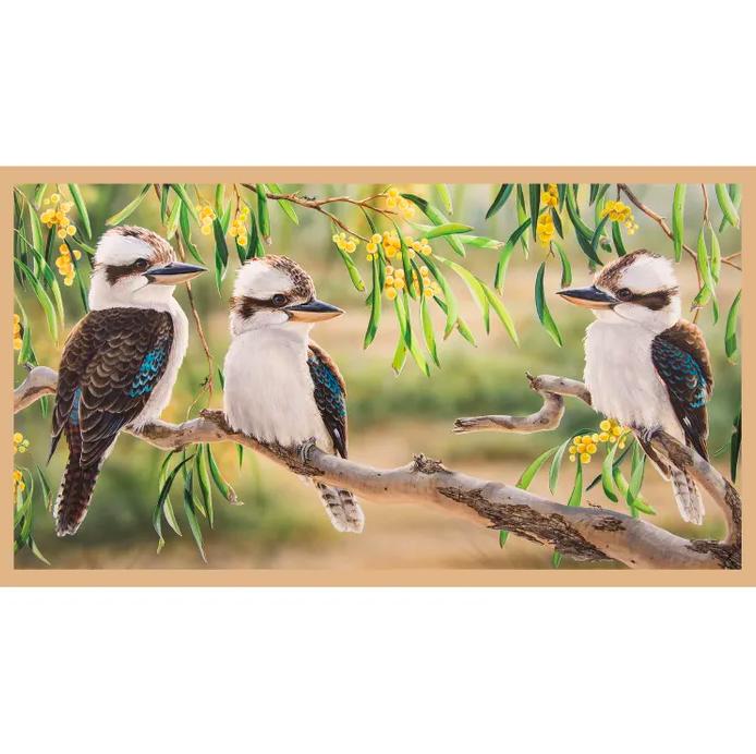 Wildlife Art - Kookaburras No 3 Panel